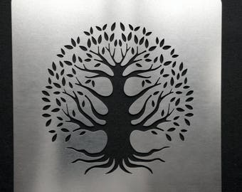 Tree of Life Stainless Steel Metal Stencil 7.5cm x 7.5cm