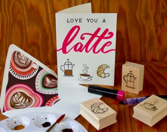 Love You a Latte Anniversary or Friendship Card