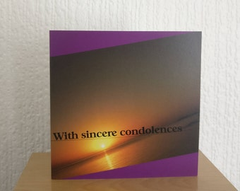 Christian condolence sympathy card with Bible verse | Faith greeting card | Religious card | Original photography