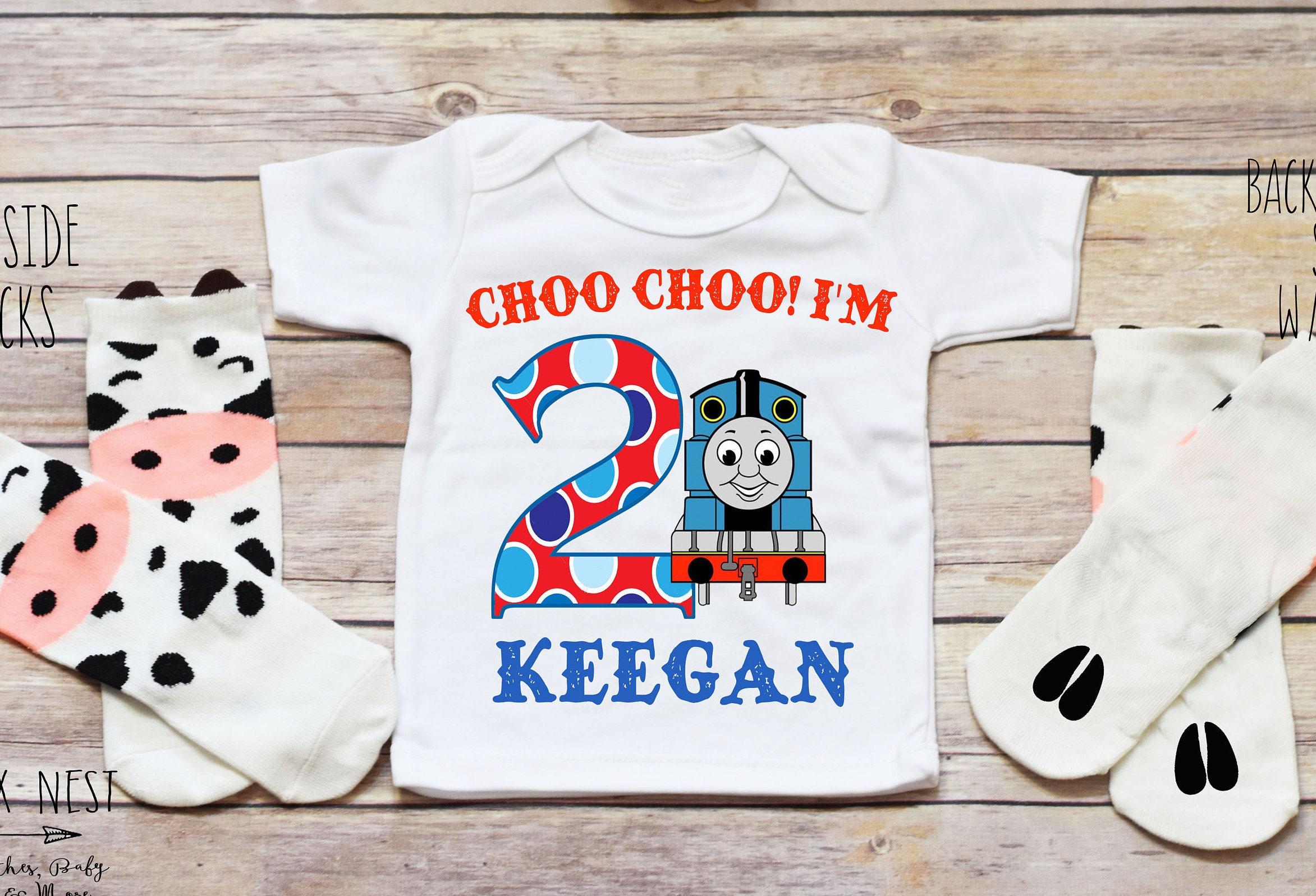 Train Birthday Shirt Onesie Toddler