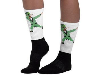 Dabbing Leprechaun Dab Socks - St. Patricks Day Socks