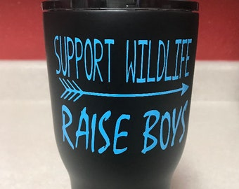 Support Wildlife Raise Boys Decal