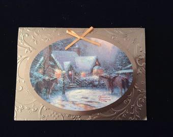 Thomas Kinkade Christmas 1996 Greeting Card