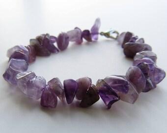 Purple Quartz Beaded Bracelet