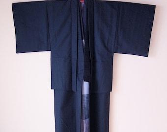 Vintage Japanese Men's Kimono Full Set / set of 4