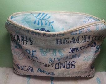 Beach/ Summer zipper pouch