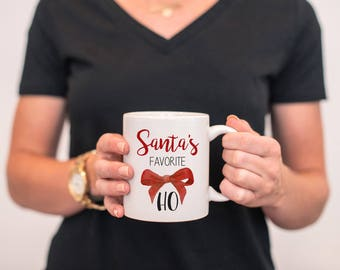 Santa's Favorite Ho Mug, Santa's Favorite Ho, Christmas Mug, Funny Christmas Mug, Christmas Gift, Funny Christmas Gift, Santa Mug, Funny Mug