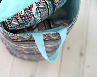 Toy Storage, Canvas Storage Basket, Blue Toy Basket,  Canvas Toy Basket, Nursery Toy Basket, Laundry Hamper, Fabric Hamper, Toy Basket