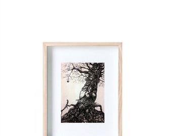 Tree Face A6 Print
