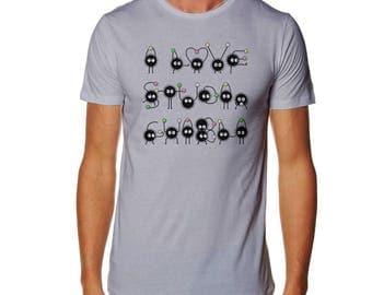 I Love Studio Ghibli - T-Shirt - Totoro T-shirt - Spirited Away T-shirt - Soot Sprites T-shirt - Love T-shirt - Soot T-shirt- Mononoke shirt