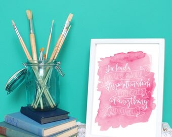 She had a lively, playful disposition - Jane Austen Quote Print