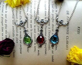 Floral art nouveau necklace