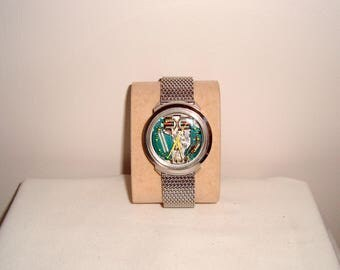 SALE!! 1967 Bulova Accutron Spaceview 214 Tuning Fork Watch. Stainless Steel. Yellow Hands
