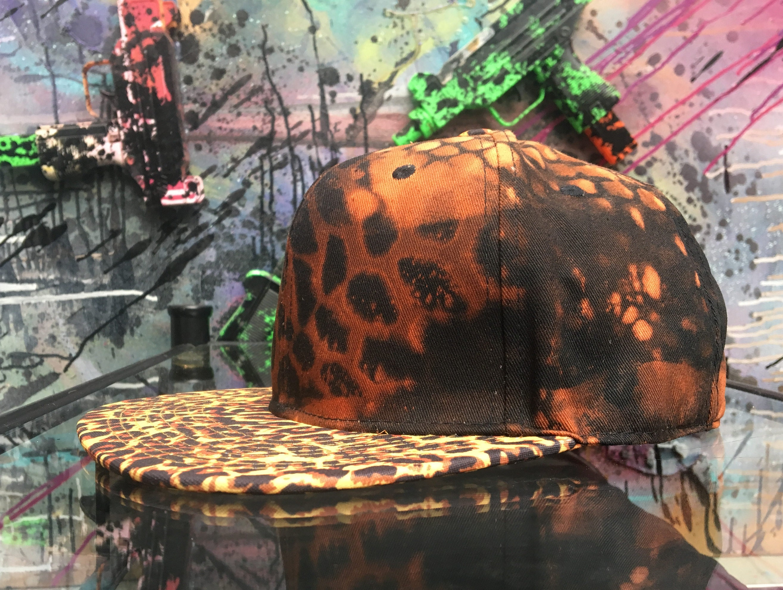 5e02abdedf2 Cheetah Print Custom Style    Trucker Cap    Baseball Hat    Safari Animal