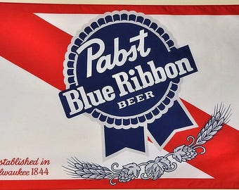 Pabst Blue Ribbon Beer Flag and Banner 3' x 5'