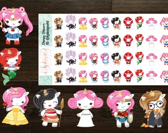 Fairytale Unicorn Collection Stickers || Planner Stickers
