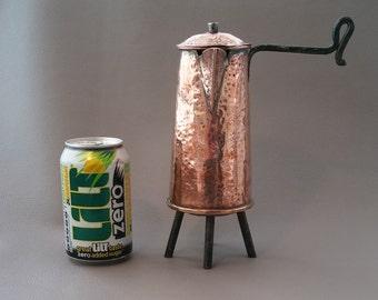 Coffee pot, copper coffee pot, hand made, rustic copper item, copper ornament, Antique pot
