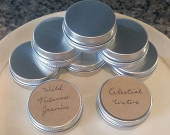 Organic solid perfume in a tin, Small Travel Size, 0.5 oz