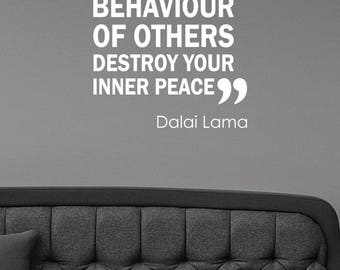 Dalai Lama Quote Wall Sticker Positive Peace Inspirational Decal Vinyl Lettering Buddhist Saying Art Decorations Home Room Office Decor lq5