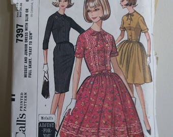 Dresses and Smocks Vintage Patterns, Four Different Options