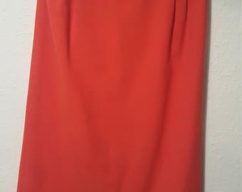 1980s Jacques Vert skirt•vintage skirt•red skirt•pencil skirt•wool skirt•christmas•party•festive•UK 10/12•US 8/10