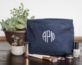 Monogram Cosmetic Bags, Custom Bridesmaid Makeup Bags, Monogrammed Make Up Bags, Personalized Make Up Bags for Bridesmaids, 530323653