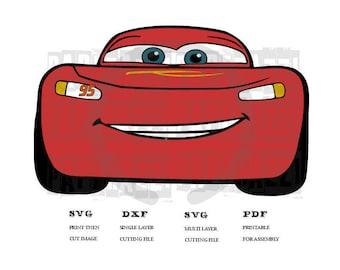 Cars 3 - Lightning McQueen SVG DXF FCM for Cricut Design Space - Silhouette Studio