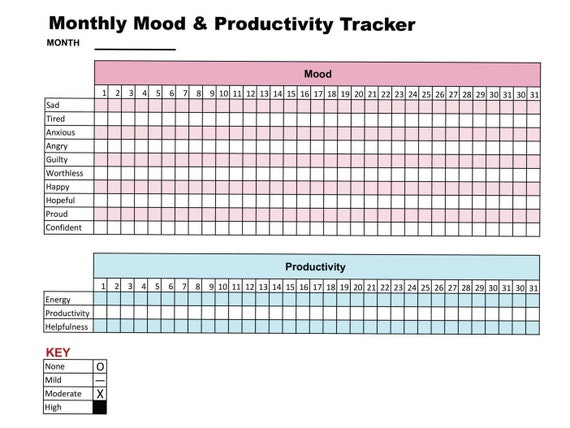 Enterprising image with printable mood chart