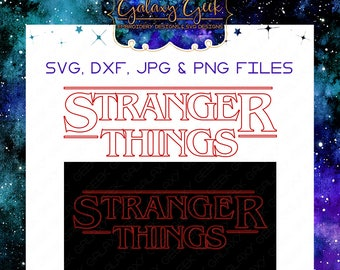 Stranger things svg tv show movie SVG geek sci-fi svg files cutting files geek svg files t shirt design svg clipart tv svg geek cutting file
