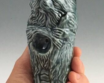 Blue Beaver Ceremonial Porcelain Pipe