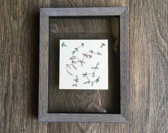 Original, Framed and Unique Watercolor Painting