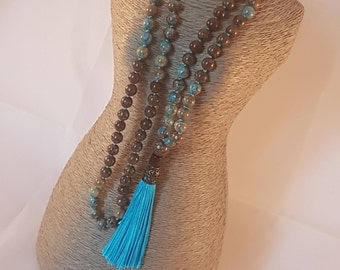 108 Mala Beads. Jasper Mala Necklace.