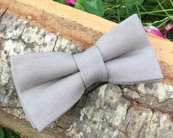 Gray bow tie, Bow tie for men, Mens BowTies, Wedding bow tie, Groom Bowtie Gift for him Sand bow tie Desert gray Bow ties mens Groomsman tie