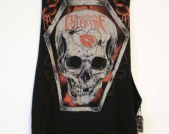 Bullet For My Valentine Cut Off w/ Large Arm Holes Tank- Size Men's Small or Can be Woman's Medium (Cotton)