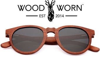 Handmade Wood Worn Brand Wooden Sunglasses with Polarized Lenses - Cosmopolitans