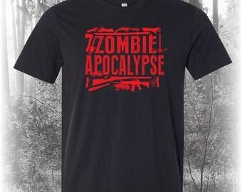 Zombie Shirt, Zombie Apocalypse Shirt, Zombie Tee, Zombie T Shirt, Zombies Shirt, Zombie Art