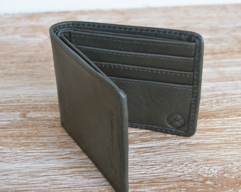 """JANTAN"" gray leather men's wallet"