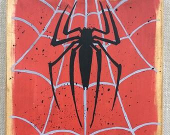Spider-Man Sign, Hand Painted Marvel Sign, Spider-Man, Marvel Decor, Marvel Art, Marvel Wood Sign, Marvel, Peter Parker