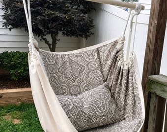 Premium Double Sided Hammock Chair Swing, Indoor/Outdoor for Kids and Adults
