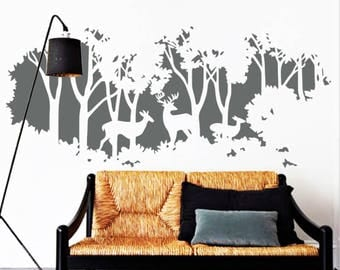 Animal Wall Decal, Nature Wall Decal, Wall Decals Nursery, Forest Wall Mural, Wall Decal Living Room, Wall Decal Bedroom, Home Design Decal