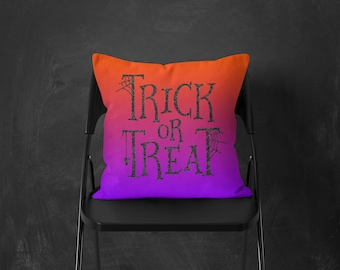 Outdoor Halloween Decorations Pillows Sayings, Fall Outdoor Pillows Decorative, Halloween Pillow Cover Outdoor Decor For Fall Trick or Treat