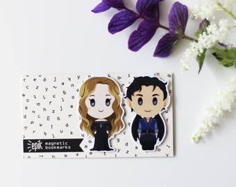 Rhysand and Feyre - Magnetic bookmarks - Night Court || ACOMAF, ACOTAR, ACOWAR, High Lady, Sarah J Maas, High Lord, bookmark, bookish