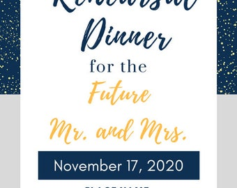 Printalable and Digital Rehearsal Dinner Announcement