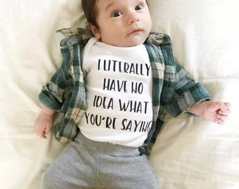 Funny Baby Clothes | Funny Baby Shirt | Trendy Baby Top | Trendy Baby | Cute Baby Clothes | Cool Baby Clothes | Funny Baby Bodysuits | Baby
