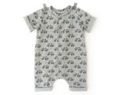 Bike short romper -  summer romper - unisex romper - baby boy take home outfit