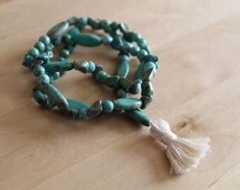 Turquoise Mala Bracelet Stack