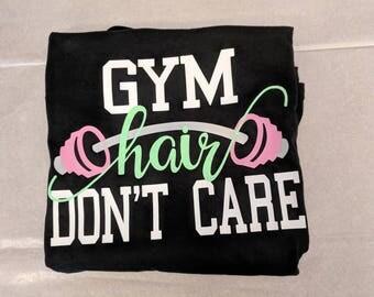 Gym Hair, Don't Care - Comfort Tank - Womens Shirt - Workout Shirt - Mom Shirt - Exercise Shirt - Fitness Fan - Fitness Shirt - Gym Shirt