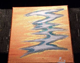 Table of art: 20 x 20 Copper Creek