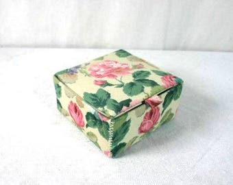 Vintage Floral Jewelry Box Jewelry Chest Jewelry Box Retro Jewelry Box Vintage Flower Jewelry Storage Box