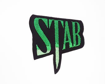 Stab Logo Patch, Stab Patch, Scream Patch, Horror Movie Patch, Modern Monster, Slasher Flick, Cult Movie Patch